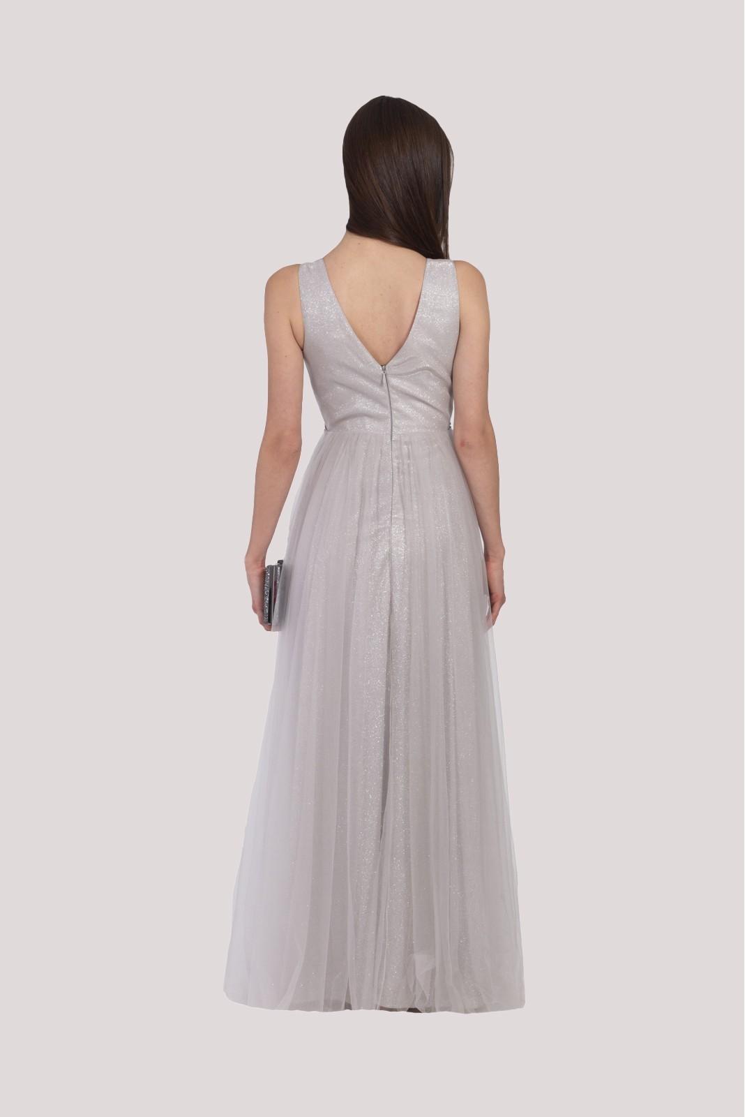 ASOS DESIGN - Marszczona sukienka midi z wycięciem na