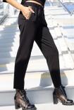 Spodnie EMILIA z ozdobnym logo czarne