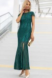 Sukienka GLEN maxi z koronki zielona